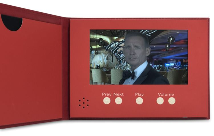 Casino party invitations for a charity or fundraising events. Personalized James Bond video invitation.