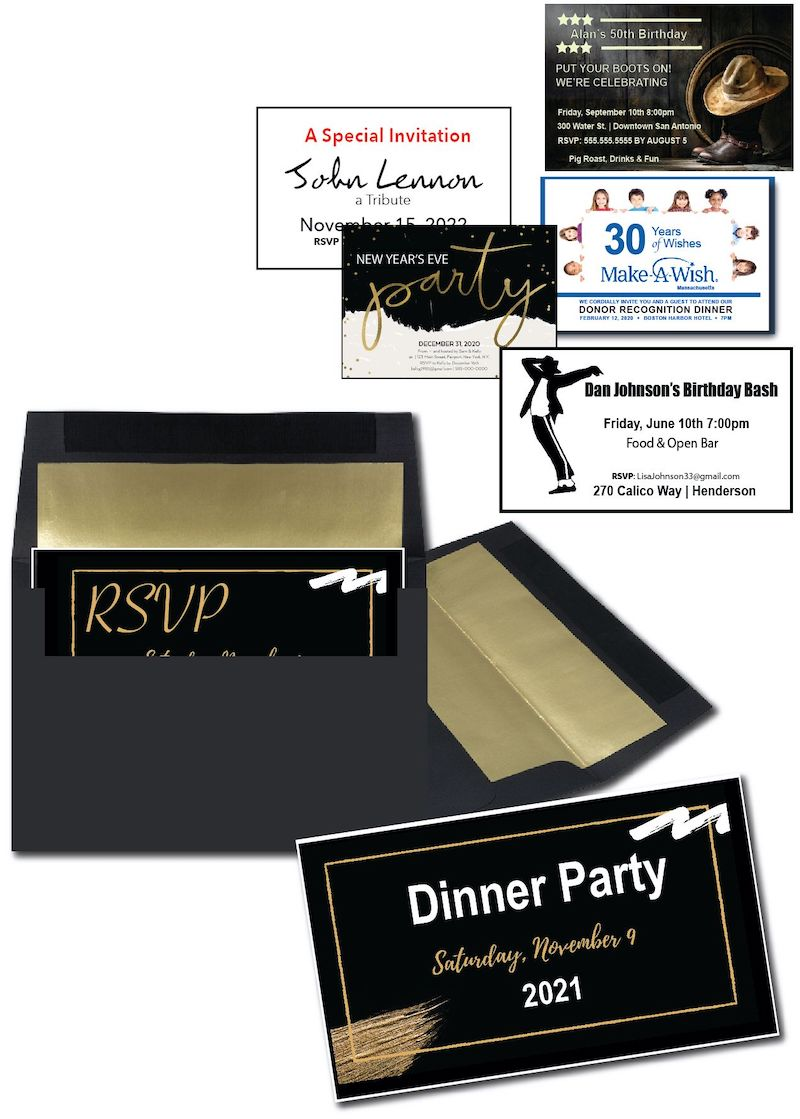 RSVP post cards - personalized invitation ideas